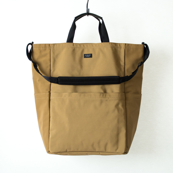 ZIP TOP 2WAY TOTE(BEIGE)