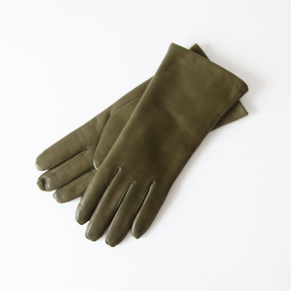 WOMEN LAMBSKIN GLOVES ARMY GREEN