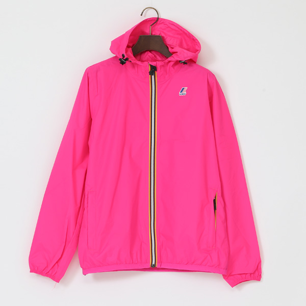 WOMEN PACKABLE WINDBREAKER FUCHIA FLUO