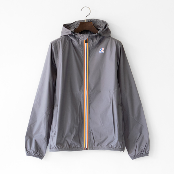 UNISEX Packable Windbreaker Gray Smoke