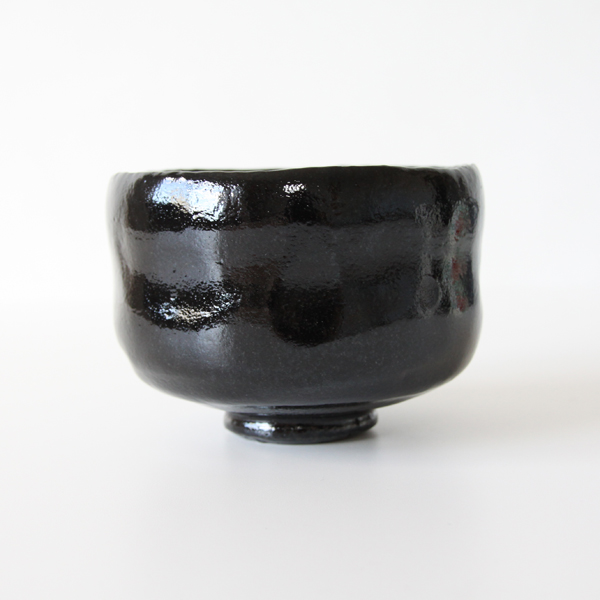 Green tea bowl Black