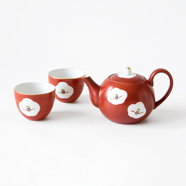 CAMELLIA TEA CUP AND TEA POT