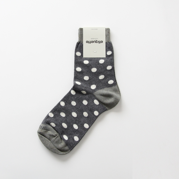 WOMENS POLKA DOTS Dark Grey Heather