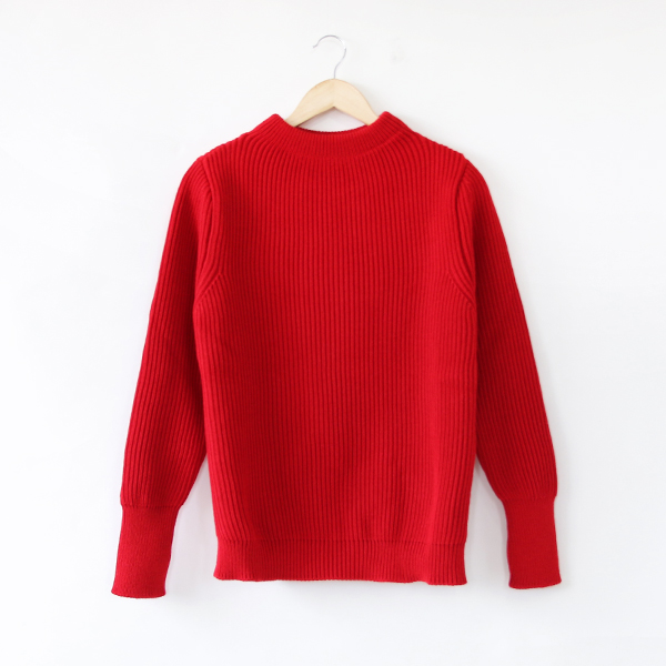 セーラーセーター THE NAVY CREWNECK red