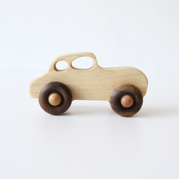 Wooden Toy Retro Car