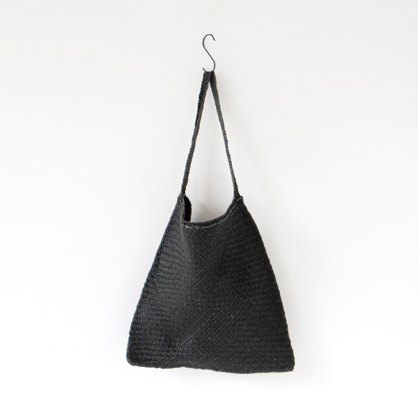 LEATHER MESH SHOURDER BAG