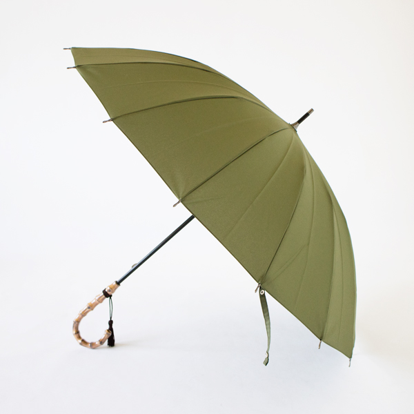 BAMBOO HANDLE UMBRELLA GREEN