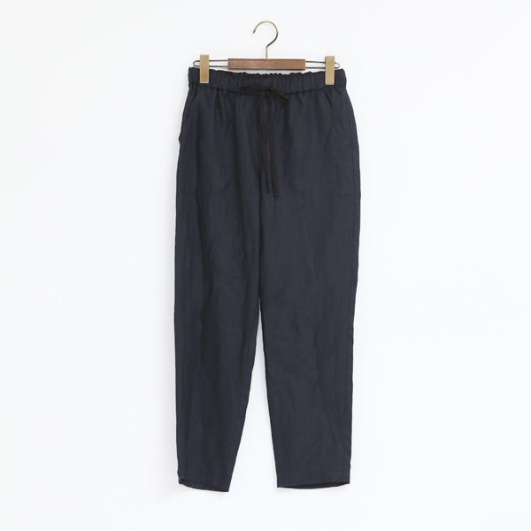 LINENCANVAS WASHER PANTS NAVY