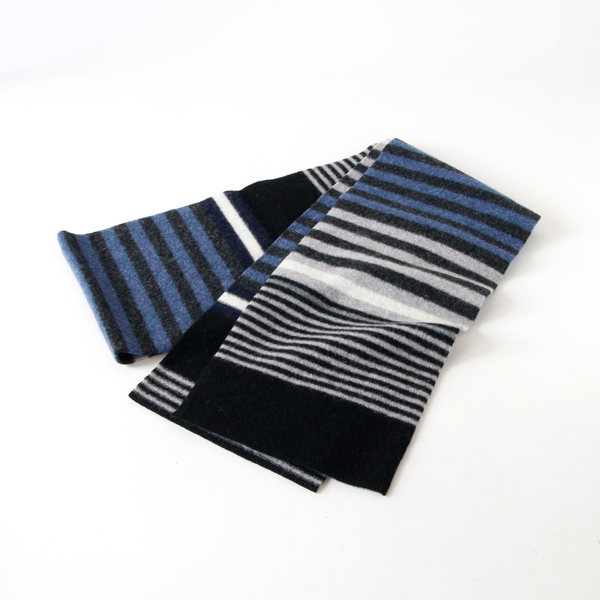 S672 Irregular Stripe マフラー(1604 blue)