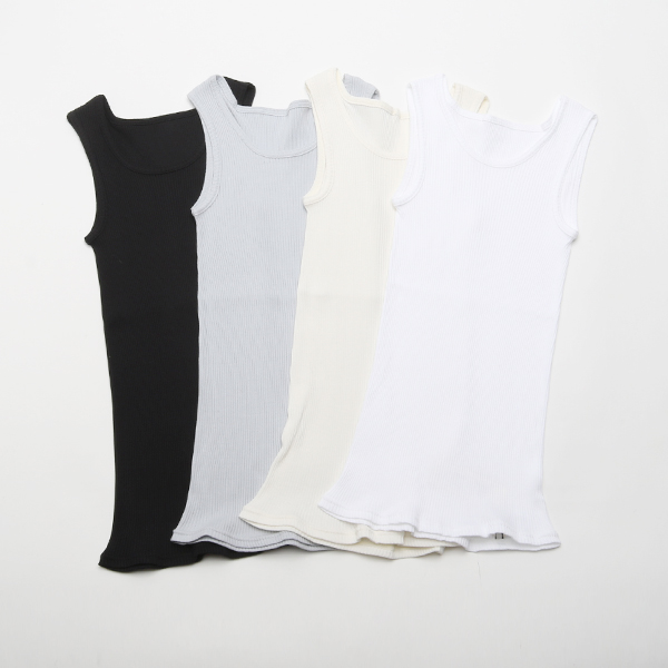 SUPIMA CIRCULAR KNITTING TANK TOP