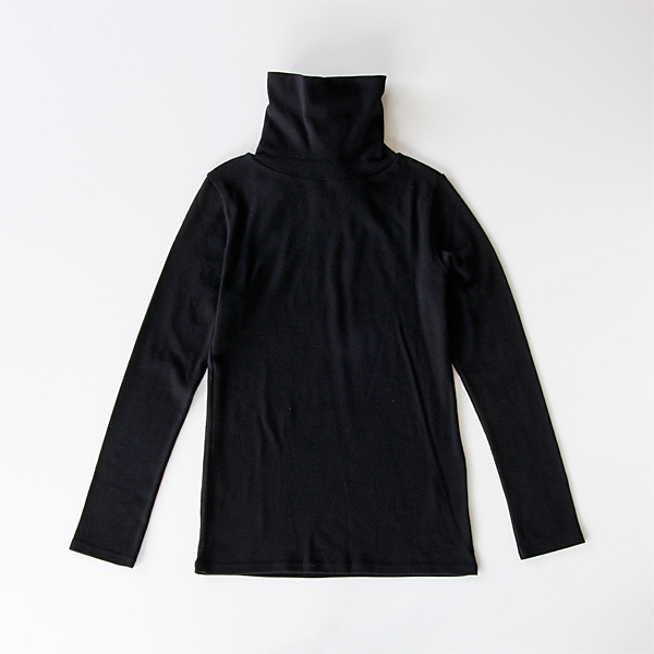 Highneck Long Sleeve T-shirt black