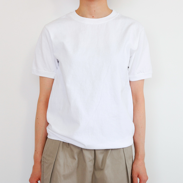 CREW NECK SHORT SLEEVE T-SHIRT WHITE