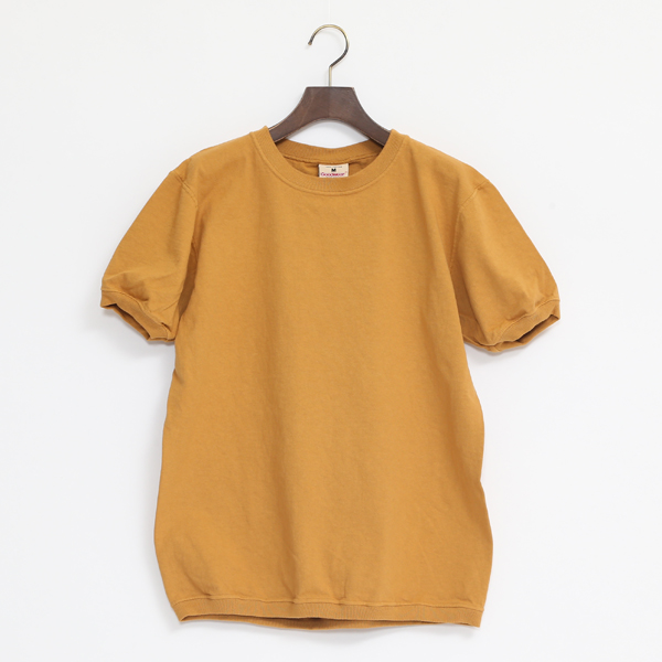 CREW NECK SHORT SLEEVED TOP KESUDA YELLOW