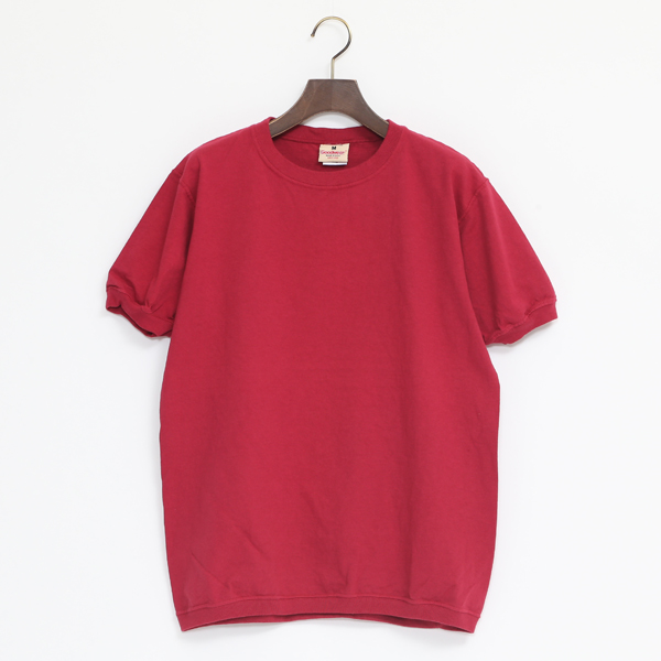 CREW NECK SHORT SLEEVED TOP DK RED