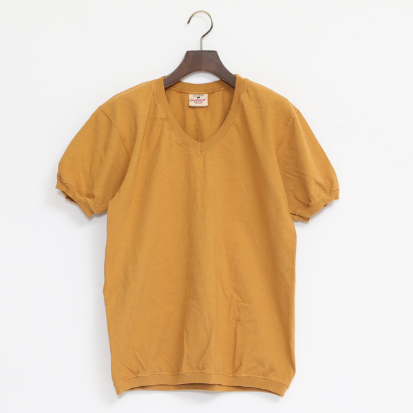 V NECK SHORT SLEEVED TOP KESUDA YELLOW