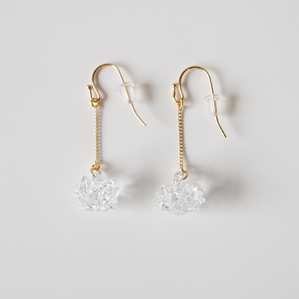EARRINGS WHITE CLOVER