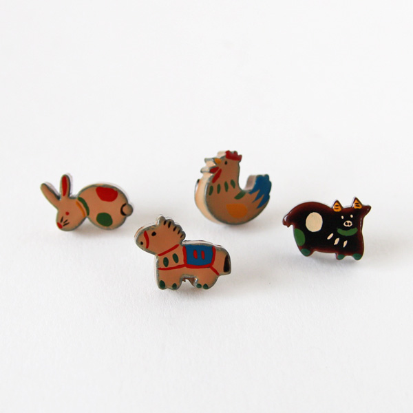 Urushi Pins Animal Series