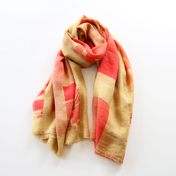 Silk linen stole Opacity Mask Over Dye
