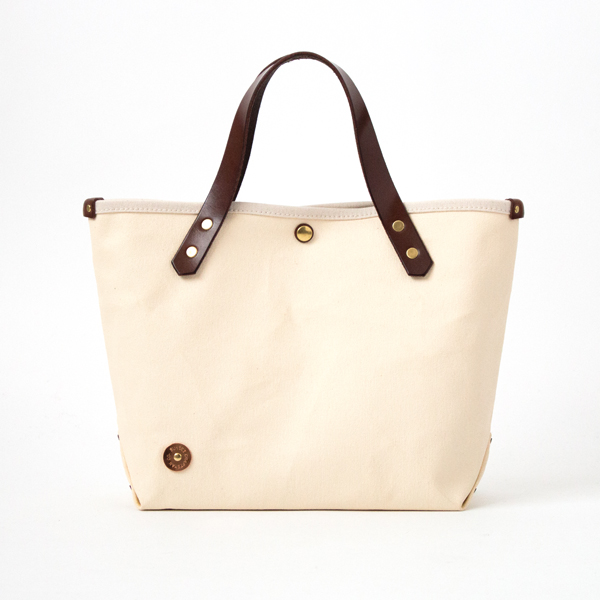 CANVAS TOTE BAG-S PINE No.9 SCCP001 BROW.MILK