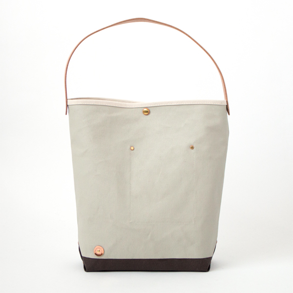 CANVAS ONE HANDLE BAG-M NT.NIMBUS.CHOCO