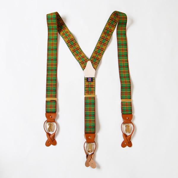 Suspenders check green