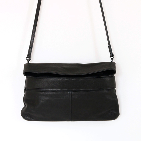 Bespoke 3way Leather purse enveloppe BLACK