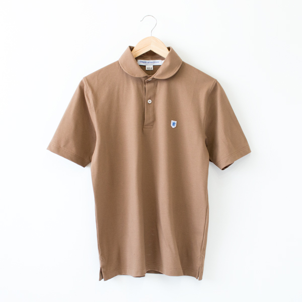 POLO SHIRTS ROUND COLLAR BROWN