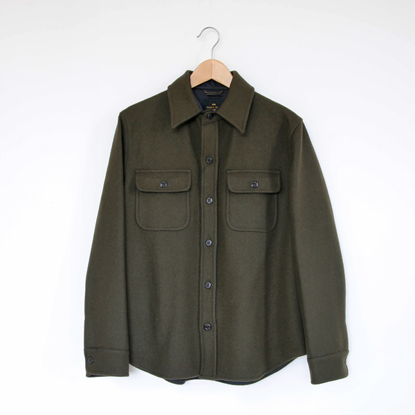 Men 24oz C.P.O. shirt jacket OLIVE
