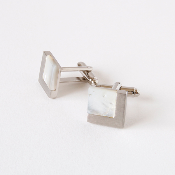 CUFFLINKS 7366SV mother-of-pearl