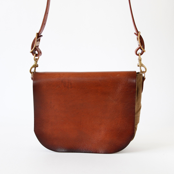 CANVAS LEATHER MAIL bag SMALL