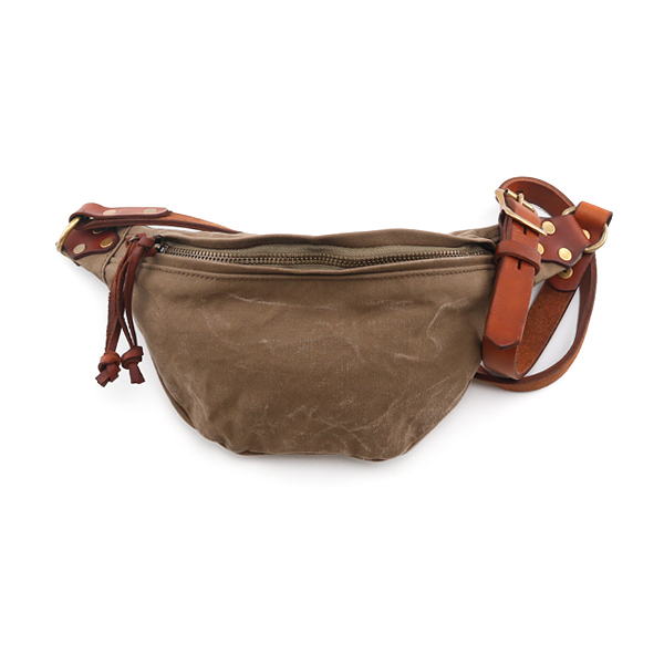 CANVAS LEATHER WAIST BAG SMALL
