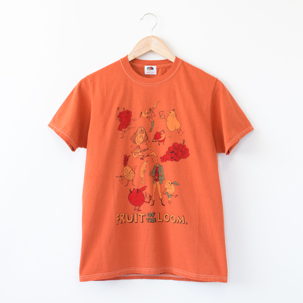 fruit parlor プリントtシャツ adrian hogan apricot fruit of the loom