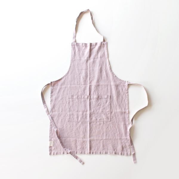 リネンエプロン Regular apron Plain(PINKLAVENDER)