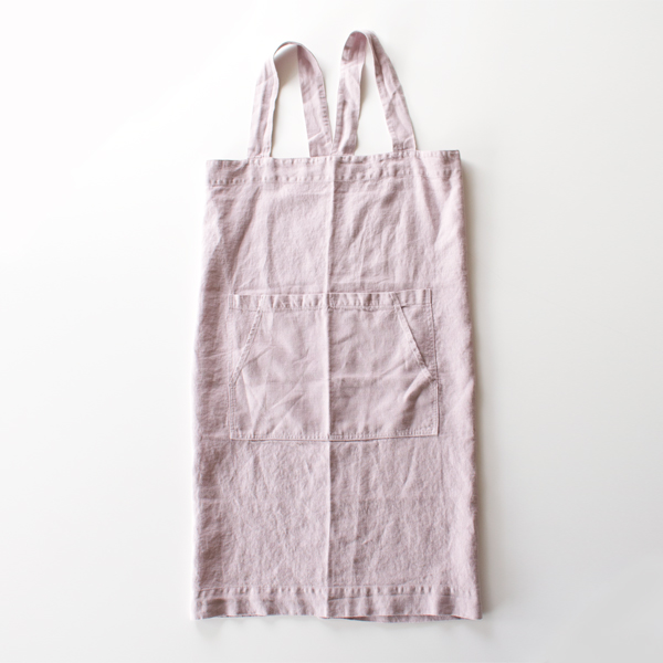 リネンエプロン Pinafore apron Colors(PINK LAVENDER)