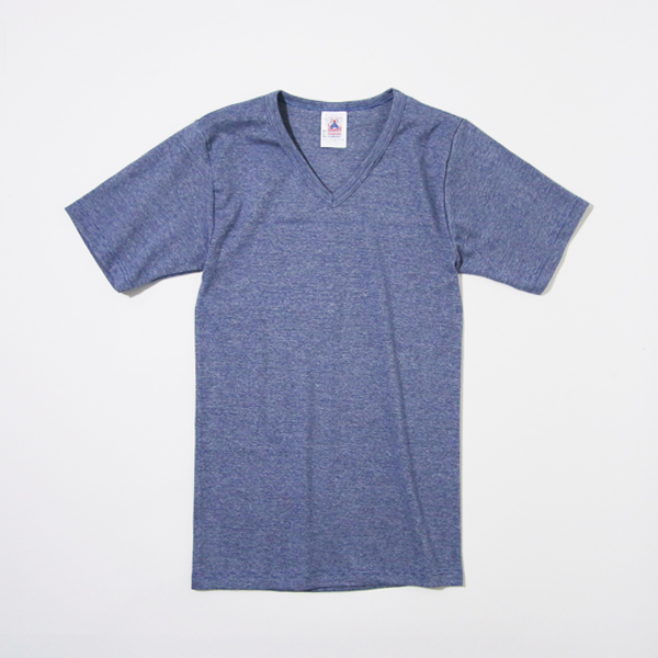 V-NECK SHORT SLEEVE T-SHIRT NAVY