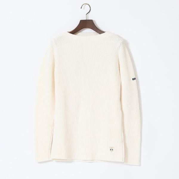 COTTON SWEATER DOUARNENEZ PURE WHITE