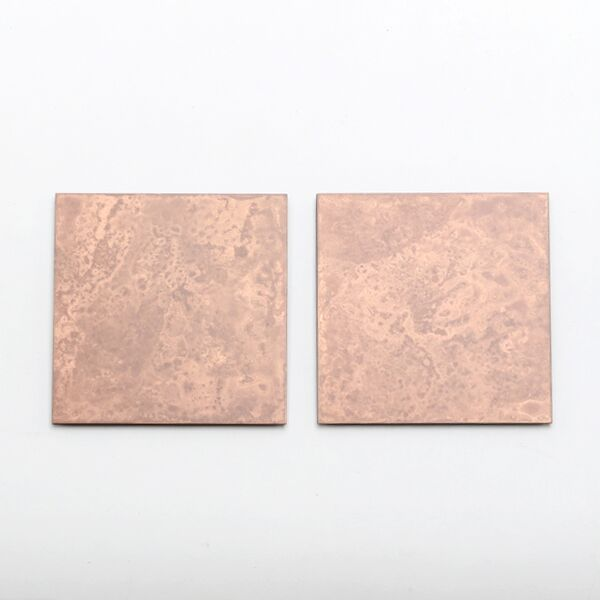 copper コースター 2枚セット(pink)