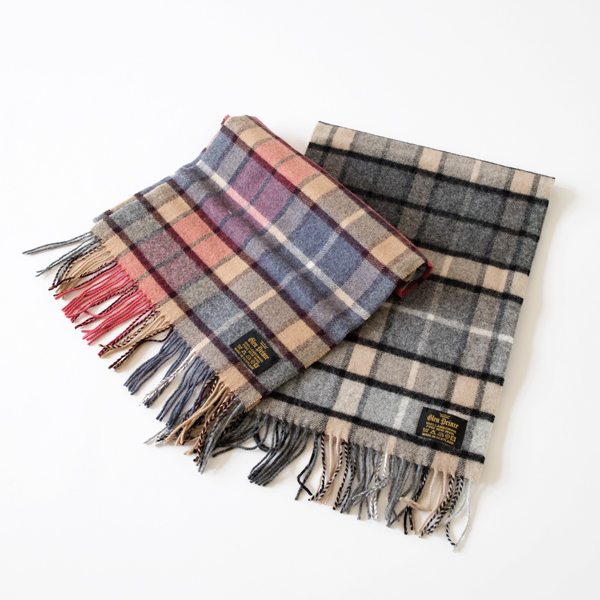 LAMBS WOOL STOLE PLAID SLS105