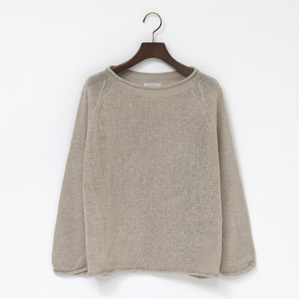 BELGIAN LINEN LONG SLEEVE SWEATER