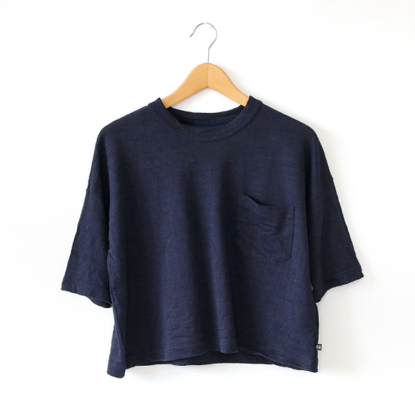 Linen cotton T-shirt with pockets