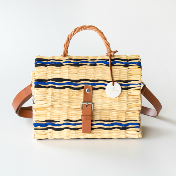 REED BASKET BAG S NAVY