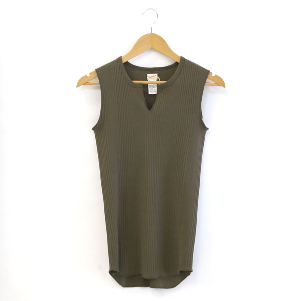 BROAD RIB KEYNECK SLEEVELESS