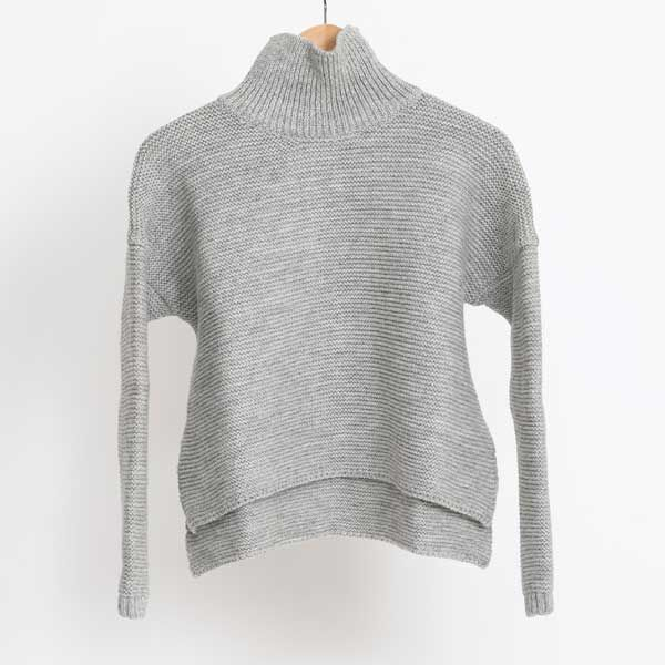 Pearl Stitch Polo Neck