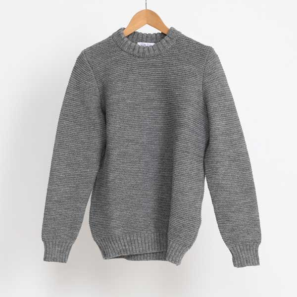 Pearl Stitch Crew Neck Steel