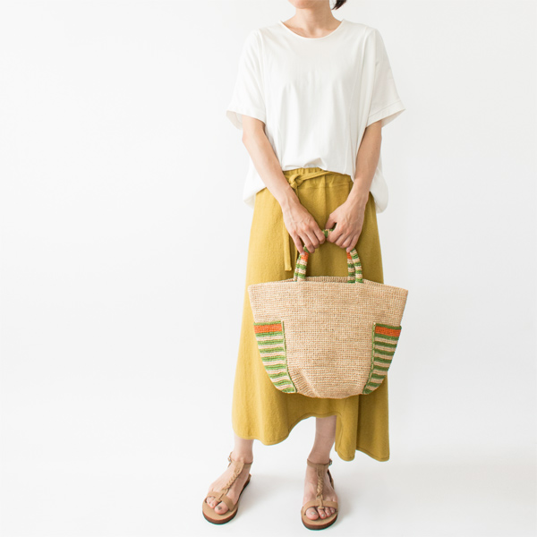 モデル身長:158cm(NATURAL/GREEN)