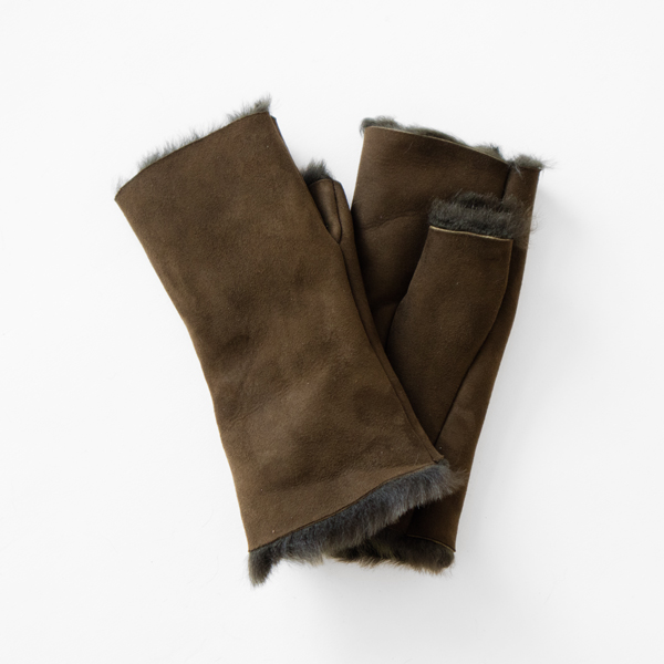 SHEEPSKIN MITTEN WITHOUT FINGERS