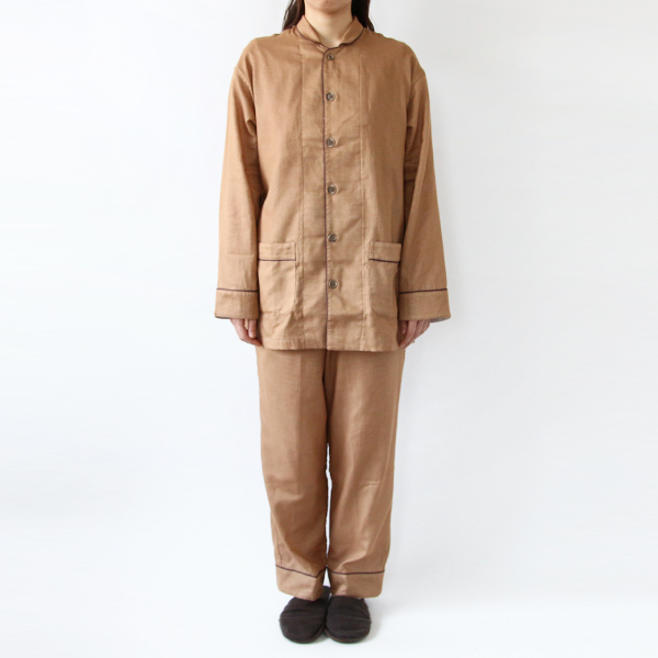 Gauze pajamas persimmon double
