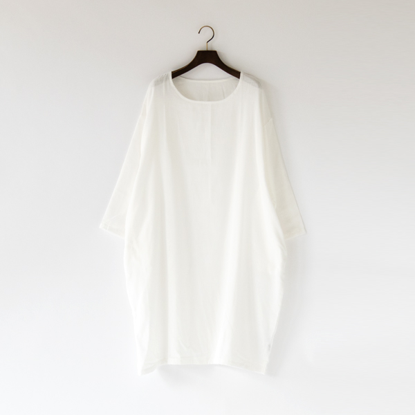 GAUZE ROUND NECK DRESS