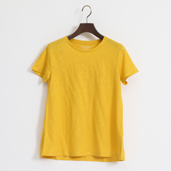 STRETCH LINEN T SHIRT