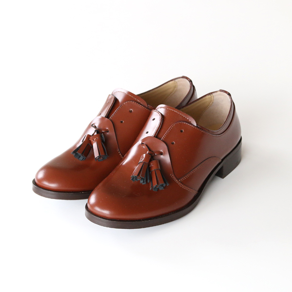 LEATHER TASSEL SHOES BROWN